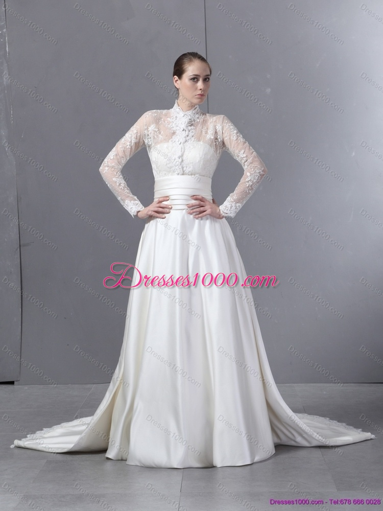 Ruching strapless white wedding dresses with brush train for What is ruching on a wedding dress