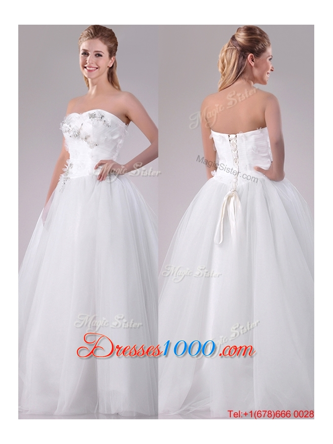 Cheap new really puffy sweetheart beaded long wedding gown for Very puffy wedding dresses
