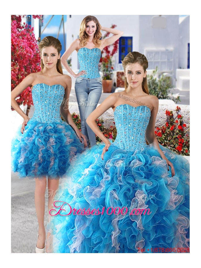 Best Beaded and Ruffled Detachable Sweet 16 Dresses in ...