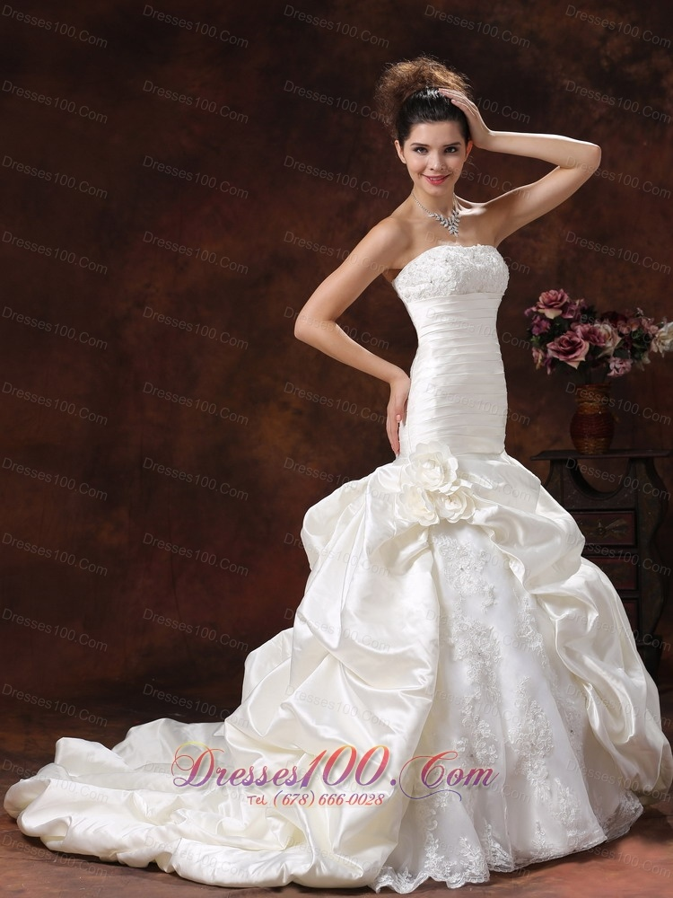 champagne mermaid ruched bodice train wedding dress us