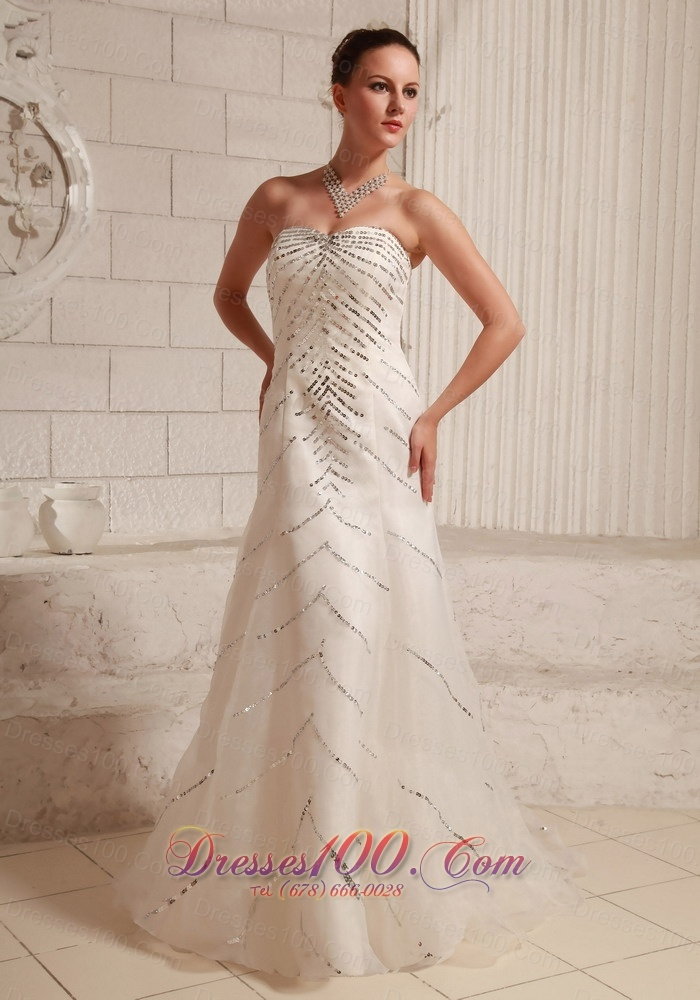 Bridal dresses sequins over bodice sweetheart us for Wedding dresses for brides over 65