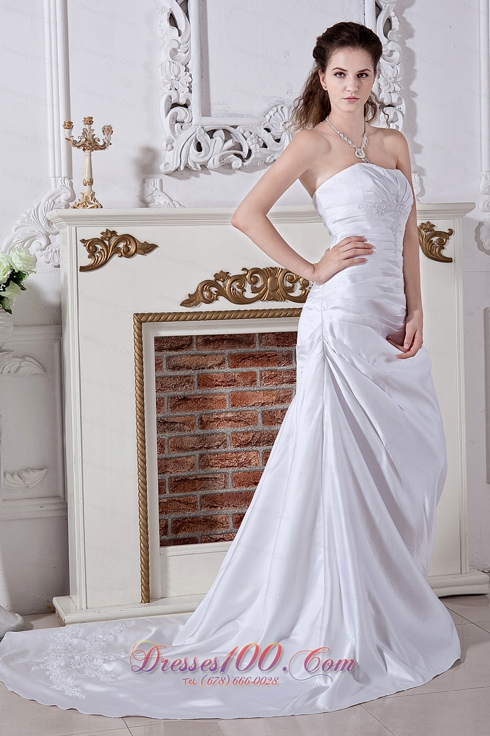 Inexpensive princess embriodery wedding gowns court train for Cheap and beautiful wedding dresses