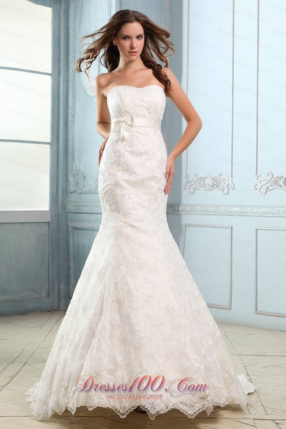 sweetheart mermaid lace belt court wedding dress us 278 12