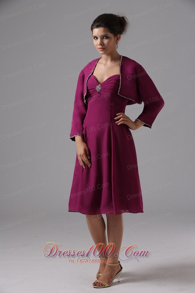 Burgundy sweetheart short mothers dresses for weddings for Should mother in law see wedding dress