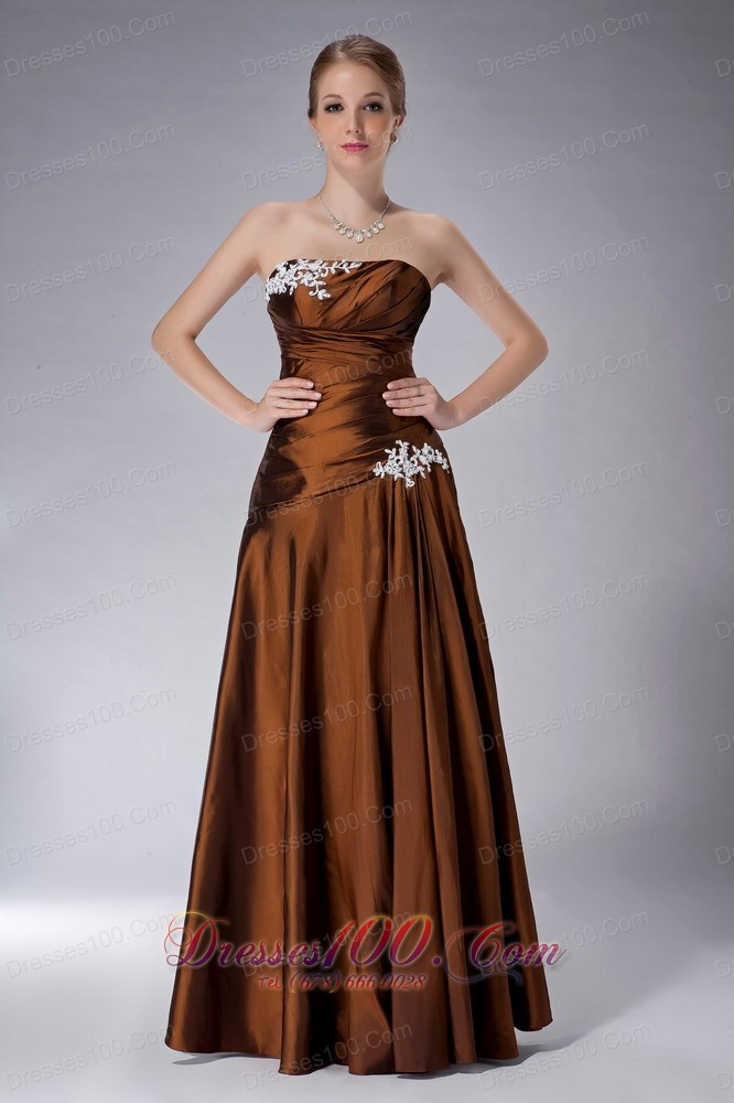Ruched strapless mothers dresses for weddings brown us for Brown dresses for wedding