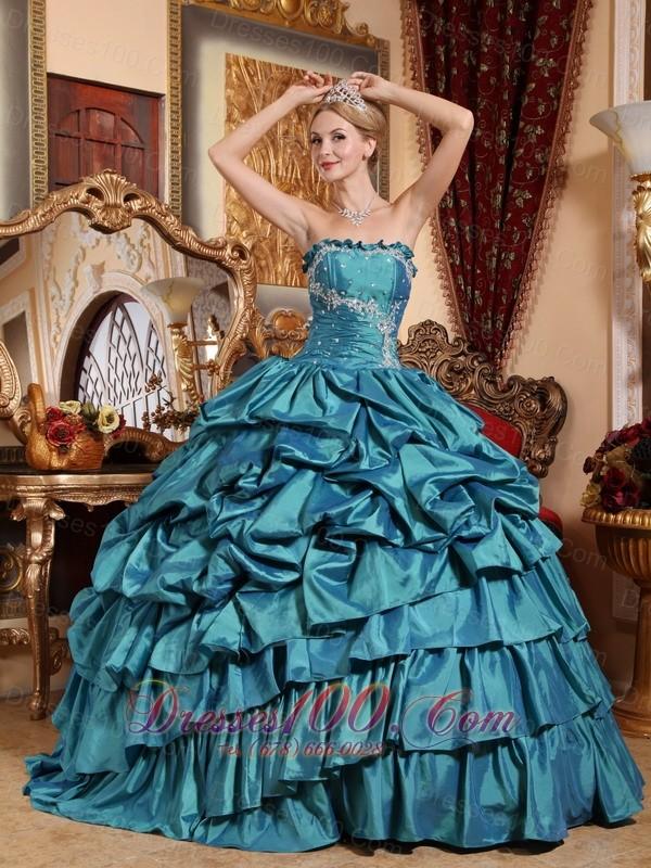 Teal Quinceanera Dresses 2013 Popular Teal Qu...
